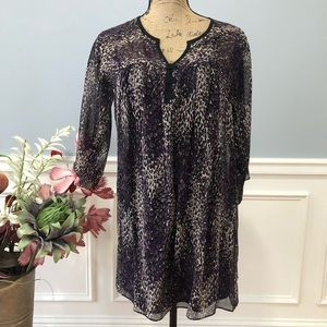 Nanette Lapore 100% Silk Purple Splash Tunic